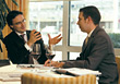 Business Men at Lunch Meeting stock photography