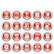 Business And Office Set Of Different Vector Web Icons stock illustration
