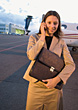 Runway Business Woman at the Airport stock photo