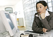 Business Woman Facing a Problem stock image