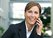 Business Woman Talking On cell Phone stock photo