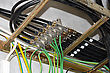 Cable With Cellular Antennas Installed In The Tray stock image
