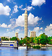 Cairo TV Tower On Seafront Of Nile. Egypt stock photography