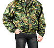 Camouflage Man Closeup Isolated On A White stock image