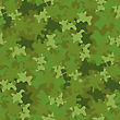 Camouflage Seamless Green Background. Military Woodland Style
