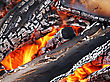 Camp Fire Close Up Outdoors, High Resolutiob stock image