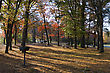 Camp Ground Set In The Autumn Colors stock photography