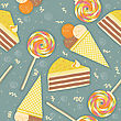 Candies Seamless Pattern.Vector Background stock illustration
