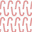 Candy Canes Set Isolated On White Background