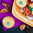 Party Candy And Pumpkin Souffle Of A Holiday Halloween stock image