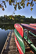 Canoe Rental Lake Huron Pinery Park Canada stock photo