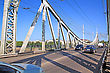 Tver Car Bridge stock photography