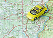 Car Travel Choose Route On The Map stock image