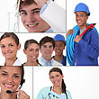 Career Mosaic stock photo