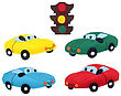 Cars And Traffic Light - Kids Toys stock photo