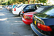 Cars In Limassol Parking, Cyprus. stock photo