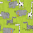 Cartoon Animals Tile Pattern, Seamless Background Design