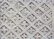 Carved Diamond Pattern In Stone stock photography