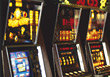 Casino Gambling Machines stock photo
