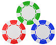 Casino Or Roulette Chips Over White Textured Background. Extralarge Res. Other Leisure Stuff Is In My Portfolio