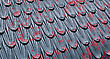 Cast Iron Roof With Old Flaking Red Paint Background stock image