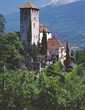 Castle in South Tirol Italy stock photography