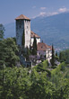 Italy Castle Lebensburg, near Merano stock photography