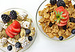 Cereal With Fruits And Berries stock photo