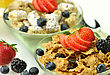 Bran Cereal With Fruits And Berries stock image