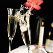 Champagne Glasses Toasting stock image