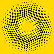 Checkered Abstract Background On Yellow Background