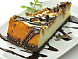 Cheesecake With Chocolate stock photography