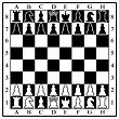 Chess Board With Chess Pieces. Vector Illustration