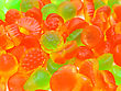 Gum Chewing Marmalade Multi-colored All Sorts, A Background stock image