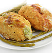 Chicken Breasts Stuffed With Broccoli And Cheese And Bacon And Cheese stock image