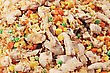 Unusual Chicken Fried Rice On Thailand Street Market stock photography