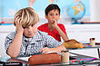 Attentive Child In School Bored stock image