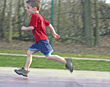 Child Running stock photography