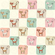 Childish Seamless Pattern With Cats, Vector Illustration