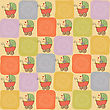 Childish Seamless Pattern With Strollers, Vector Illustration