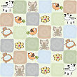 Childish Seamless Pattern With Toys, Vector Illustration