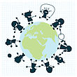 Children Arround The Globe, Clip Art