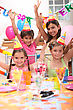 Children At A Birthday Party stock image