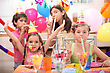 Children At Birthday Party stock photography
