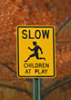 Children at Play Sign stock image