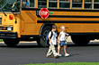 Children Coming Home from School stock photography