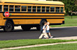 Children Coming Home From School stock image