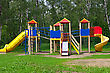 children's playground in the park stock image