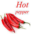 Chili Pepper Isolated On White Background stock photo