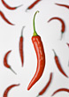 Chili Pepper With Chilis In Background stock image